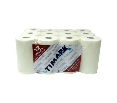 Timark 500γρ α' λευκό γκοφρέ ρολό κουζίνας/12ρολά